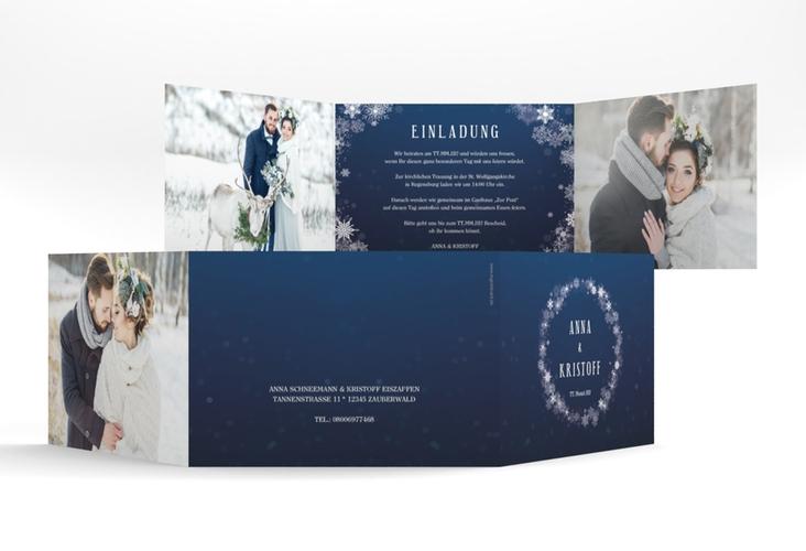 """Hochzeitseinladung """"Winterdream"""" A6 doppelt geklappt"""