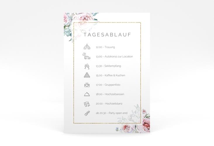 """Tagesablauf Poster Hochzeit """"Embrace"""" 50 x 70 cm Poster weiss"""