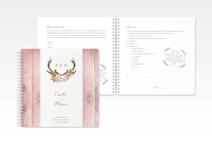 """Trautagebuch Hochzeit """"Heimatjuwel"""" Trautagebuch Hochzeit rosa"""