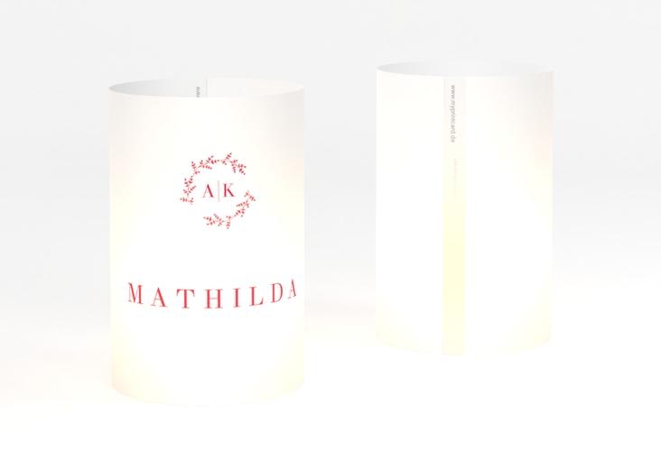 """Windlicht Hochzeit """"Filigrana"""" Windlicht rot"""