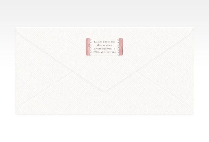 """Absenderetikett Hochzeit """"Heimatjuwel"""" 45,7 x 21,2 mm rosa"""