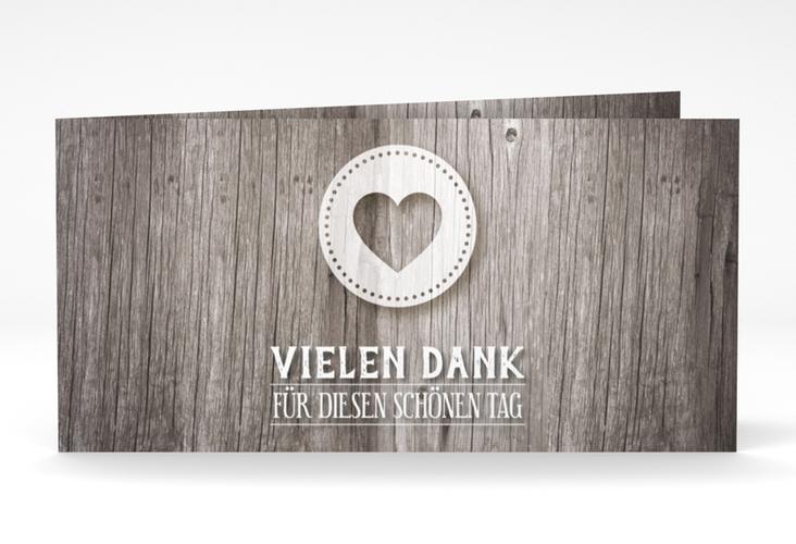"Danksagungskarte Hochzeit ""Flair"" DIN lang Klappkarte grau"