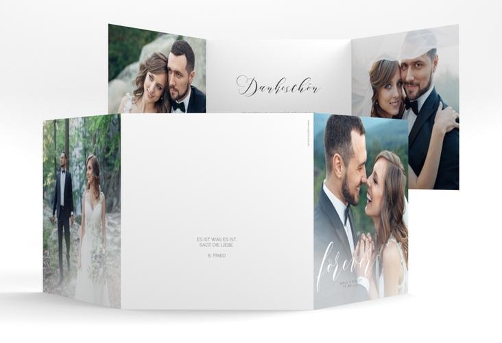 """Danksagungskarte Hochzeit """"Promise"""" Quadr. Karte doppelt"""