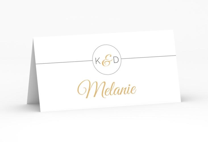 """Tischkarte Hochzeit """"Unique"""" Tischkarten gold"""