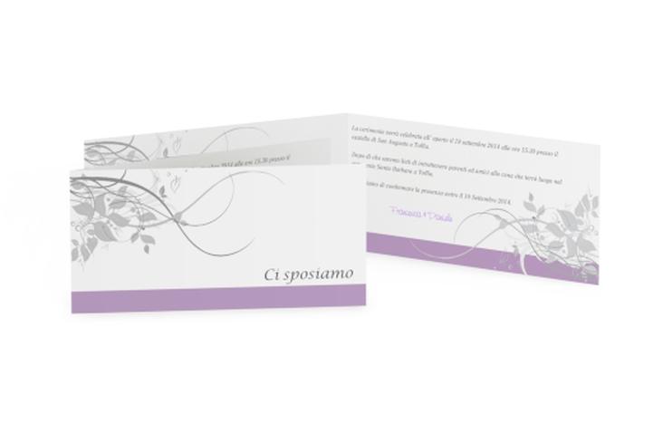 Inviti matrimonio collezione Firenze DIN lang Klappkarte lila