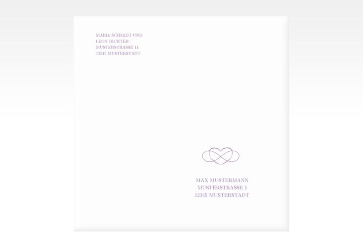 """Kuvert quadratisch """"Infinity"""" Quadratisch lila"""
