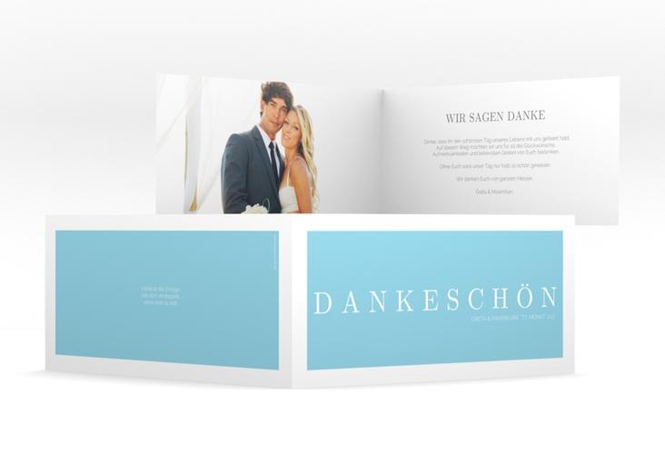 "Dankeskarte Hochzeit ""Simply"" DIN lang Klappkarte"