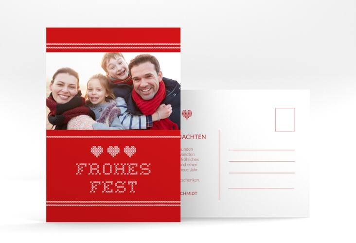 "Weihnachtskarte ""Stitch"" A6 Postkarte"
