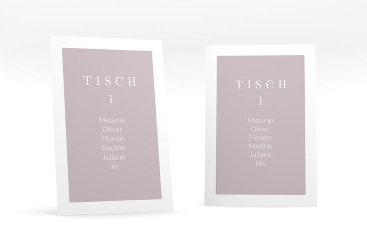 """Tischaufsteller Hochzeit """"Simply"""" Tischaufsteller grau"""