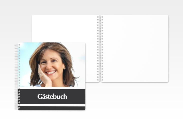 "Gästebuch Geburtstag ""Gerd/Gerda"" Ringbindung grau"