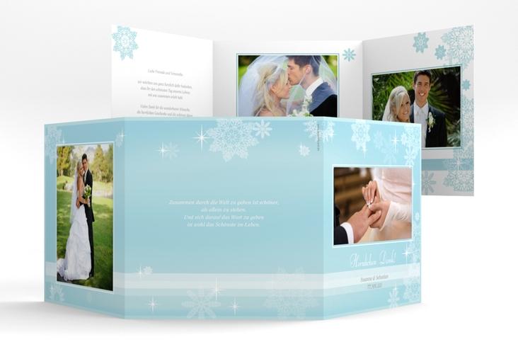 "Danksagungskarte Hochzeit ""Meran"" Quadr. Karte doppelt"
