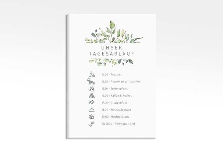 """Tagesablauf Leinwand Hochzeit """"Enchanting"""" 50 x 70 cm Leinwand weiss"""