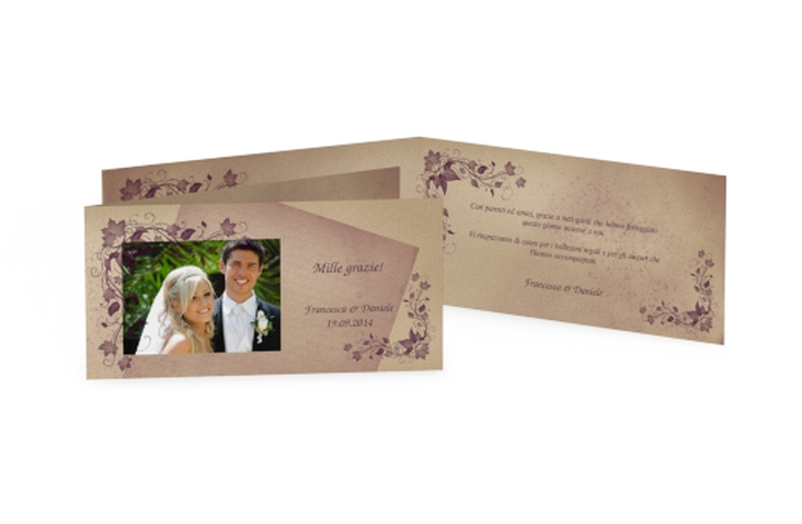 Ringraziamenti matrimonio collezione Como DIN lang Klappkarte