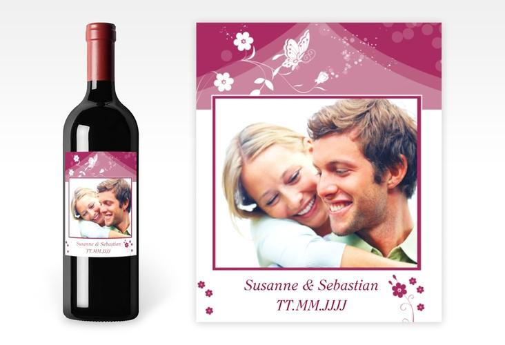 """Weinflaschenetikett Hochzeit """"Verona"""" Etikett Weinflasche 4er Set"""