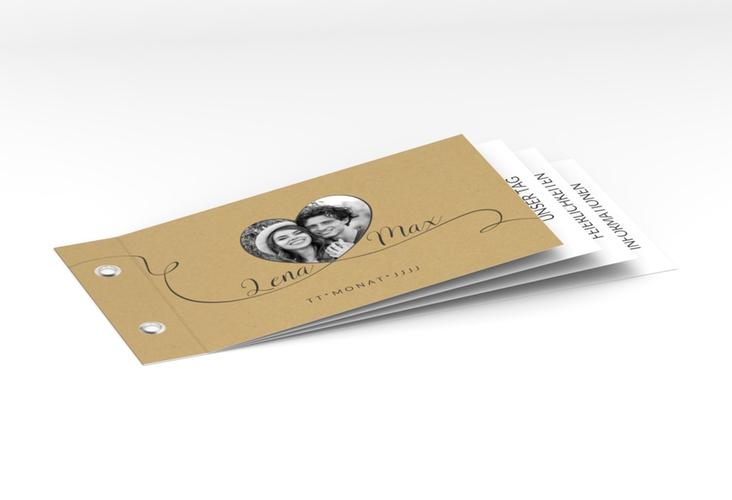 """Hochzeitseinladung """"Herzensbund"""" Booklet"""