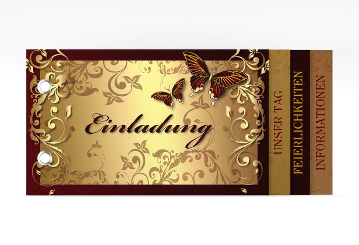 "Hochzeitseinladung ""Toulouse"" Booklet"