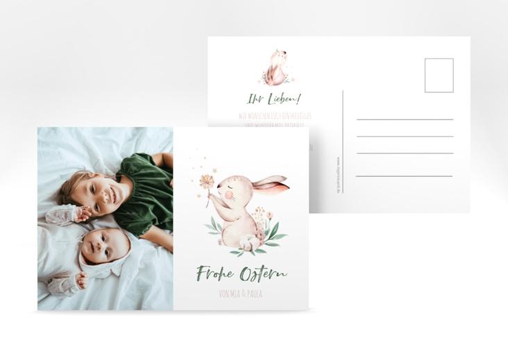 """Osterkarte """"Bunny"""" A6 Postkarte weiss"""