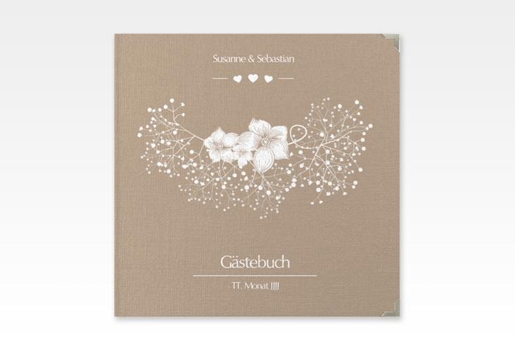"""Gästebuch Selection Hochzeit """"Jena"""" Leinen-Hardcover braun"""