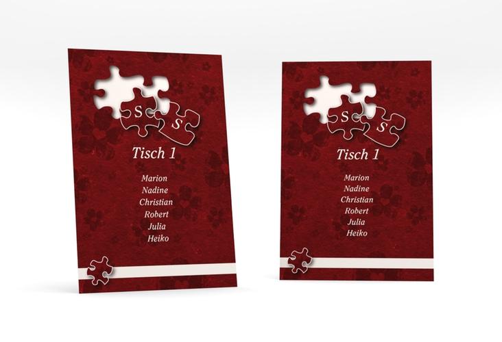 """Tischaufsteller Hochzeit """"Ravensburg"""" Tischaufsteller rot"""