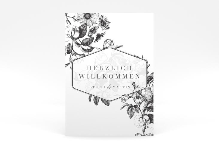 """Willkommensschild Poster  """"Magnificent"""" 50 x 70 cm Poster schwarz"""