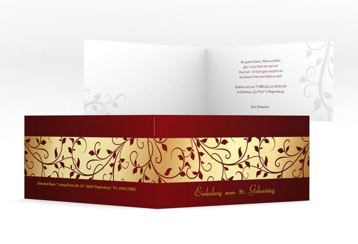 "Einladungskarte ""Hermann/Hermine"" DIN lang Klappkarte"