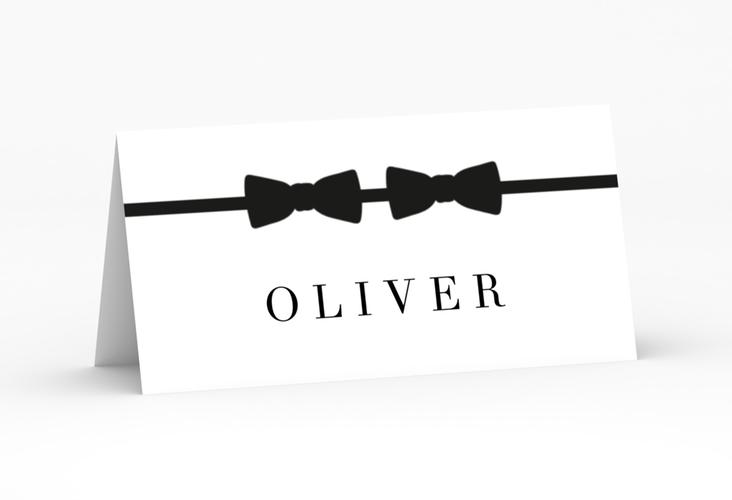 """Tischkarte Hochzeit """"Suits"""" Tischkarten schwarz"""