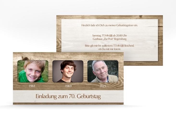 """Einladungskarte """"Michael/Michaela"""" DIN lang"""