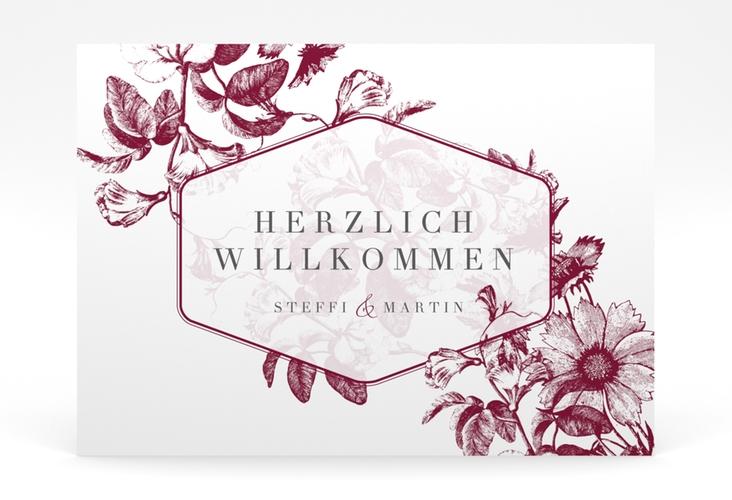 "Willkommensschild Poster ""Magnificent"" 70 x 50 cm Poster rot"