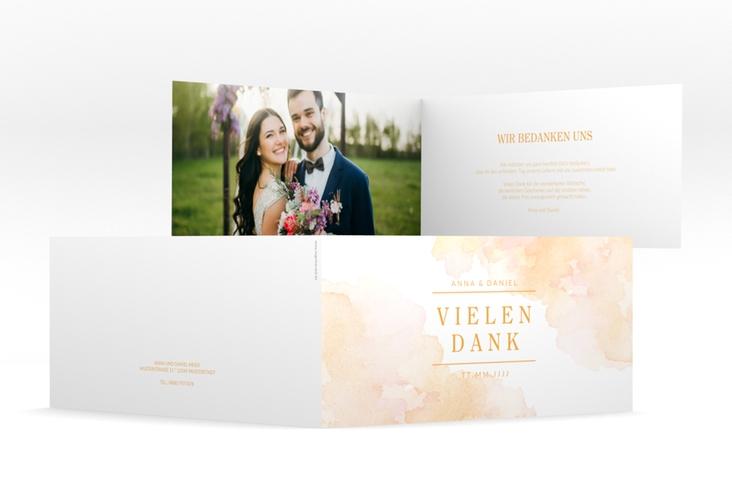 "Dankeskarte Hochzeit ""Blush"" DIN lang Klappkarte"