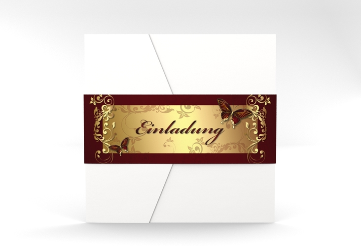 "Hochzeitseinladung ""Toulouse"" Pocketfold rot"