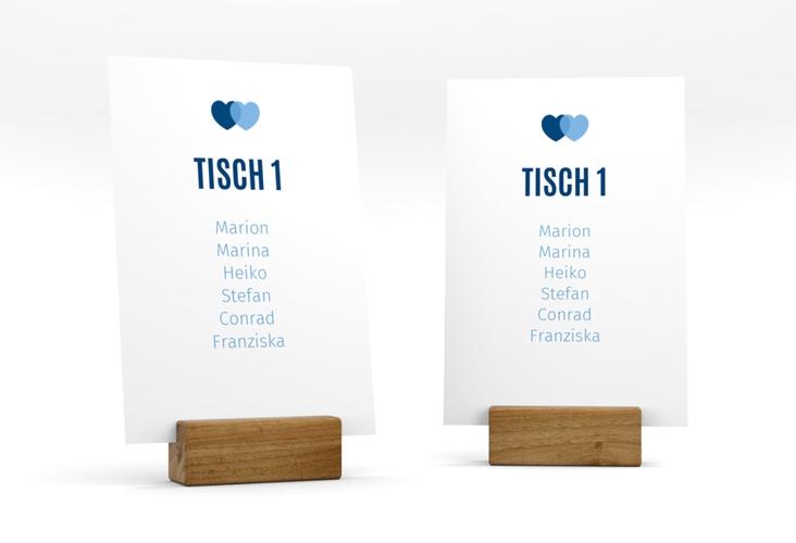"""Tischaufsteller Hochzeit """"Couple"""" Tischaufsteller blau"""