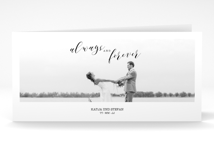 "Danksagungskarte Hochzeit  ""Photoframe"" DIN lang Klappkarte"