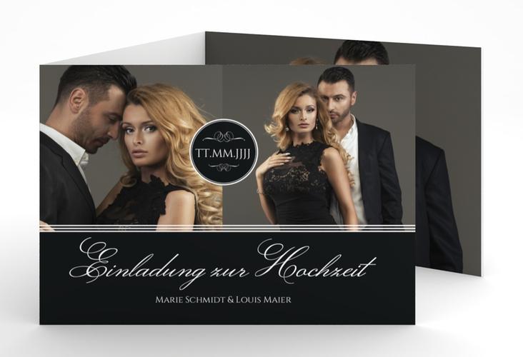 """Hochzeitseinladung """"Elegancy"""" A6 doppelt geklappt"""
