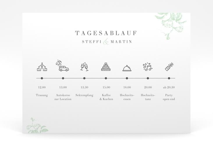 """Tagesablauf Poster Hochzeit """"Magnificent"""" 70 x 50 cm Poster mint"""