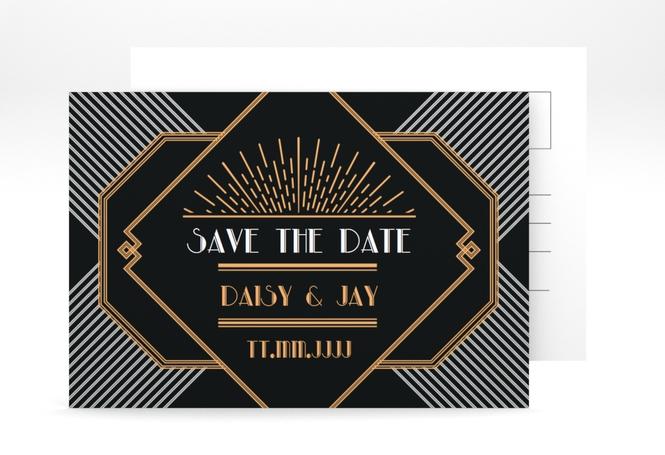 """Save the Date-Postkarte """"Gatsby"""" A6 Postkarte"""