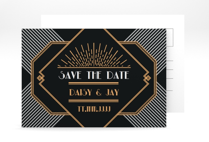 "Save the Date-Postkarte ""Gatsby"" A6 Postkarte"