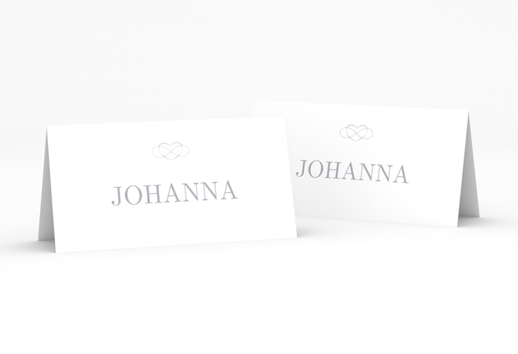 """Tischkarte Hochzeit """"Infinity"""" Tischkarten grau"""