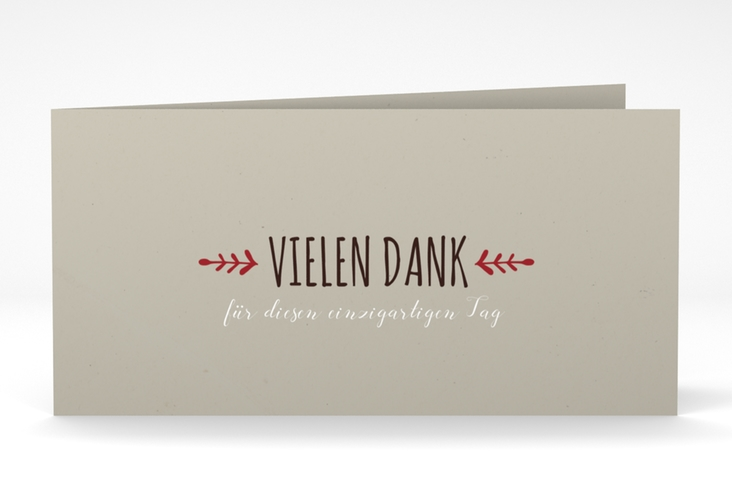 "Danksagung Hochzeit ""Eden"" DIN lang Klappkarte"