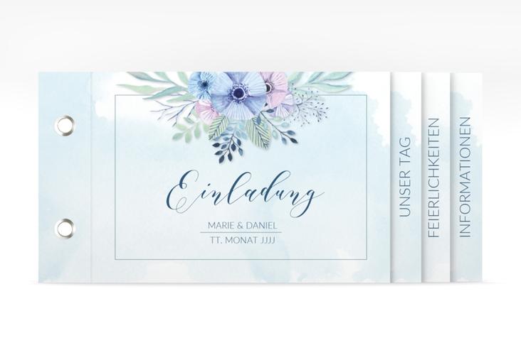 """Hochzeitseinladung """"Surfinia"""" Booklet"""