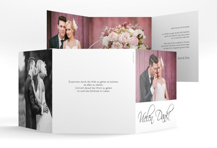 "Danksagungskarte Hochzeit ""Clarity"" Quadr. Karte doppelt"