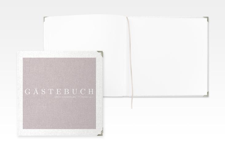 "Gästebuch Selection Hochzeit ""Simply"" Leinen-Hardcover grau"