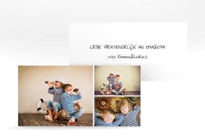 DIN-lang Karte - 3 Bilder DIN lang