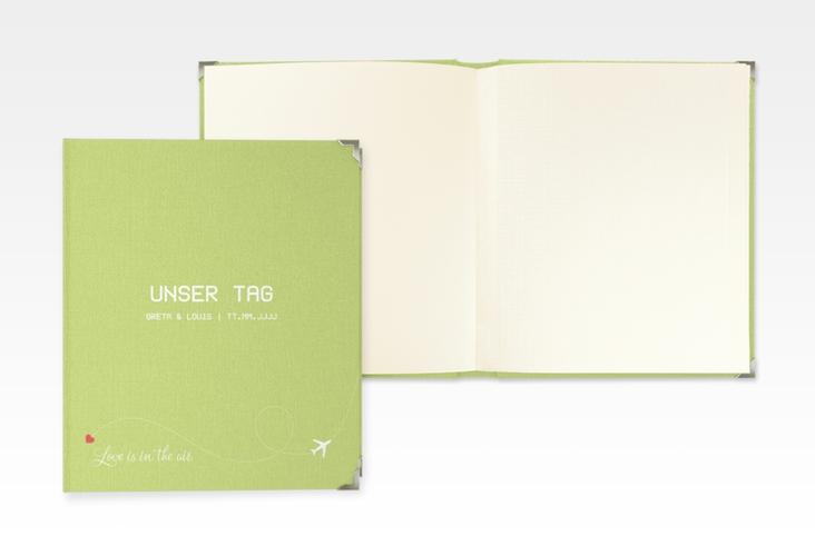 """Hochzeitsalbum """"Weddingpass"""" 21 x 25 cm gruen"""