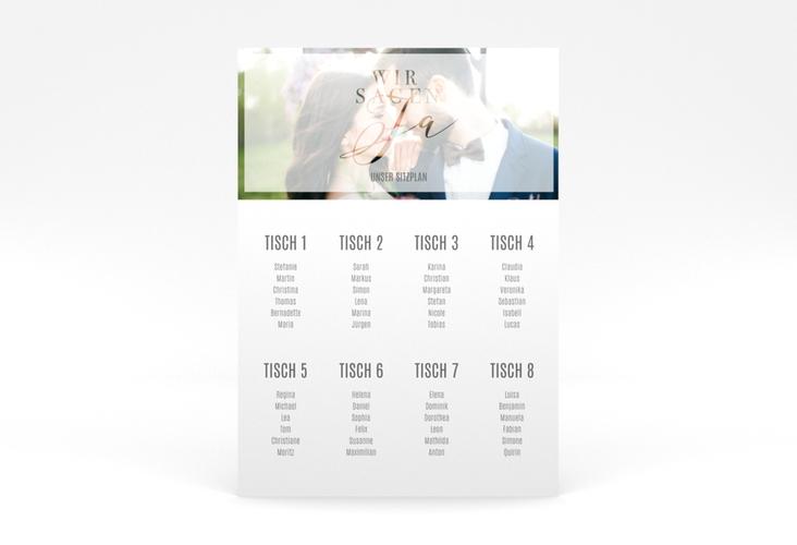 """Sitzplan Poster Hochzeit """"Amazing"""" 50 x 70 cm Poster weiss"""
