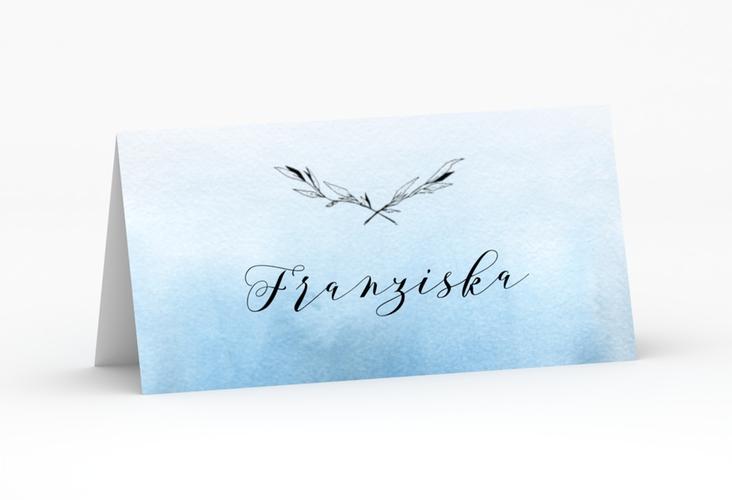 """Tischkarte Hochzeit """"Divine"""" Tischkarten blau"""