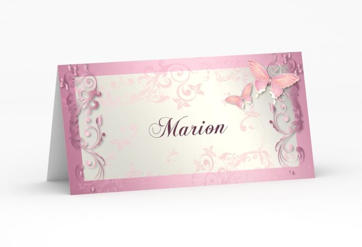 """Tischkarte Hochzeit """"Toulouse"""" Tischkarten rosa"""