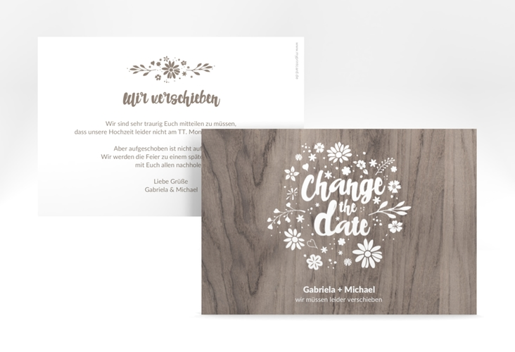 "Change the Date-Karte ""Buttercup"" A6 quer beige"