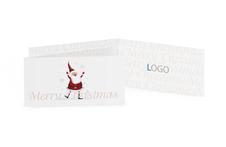 Biglietti natalizi Babbo natale DIN lang Klappkarte