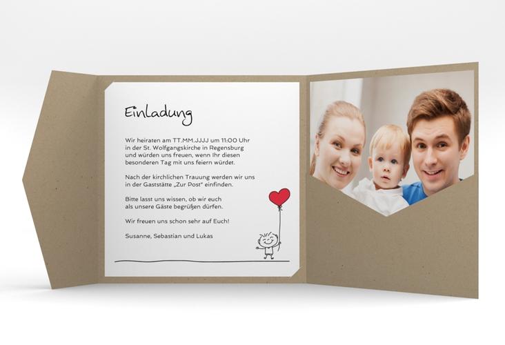 """Hochzeitseinladung """"Family"""" Pocketfold"""