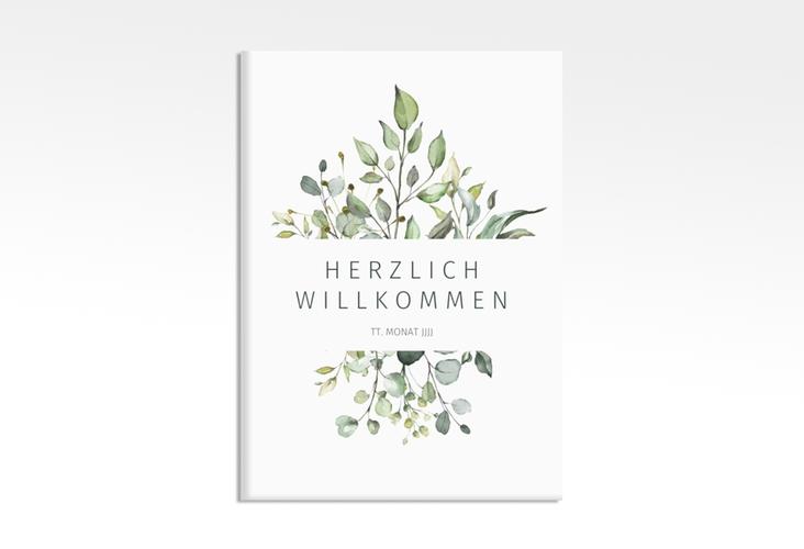 """Willkommensschild Leinwand """"Enchanting"""" 50 x 70 cm Leinwand weiss"""